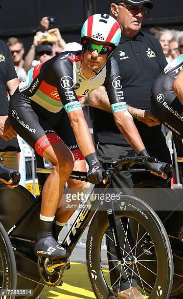 Andreas Kloden of Germany and Team Radioshack Leopard ahead of Stage Four of the Tour de France 2013 - the 100th Tour de France -, a 25km team time...