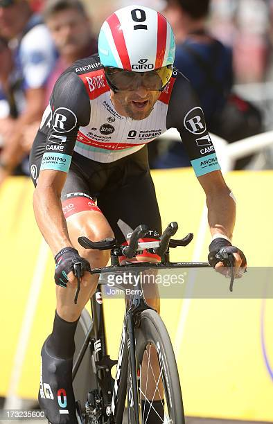 Andreas Kloden of Germany and Team Radioshack Leopard in action during Stage Eleven of the Tour de France 2013 - the 100th Tour de France -, a 33 km...