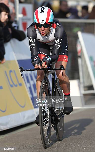 Andreas Kloden of Germany and Team Radioshack Leopard rides during the prologue of 29 km of the 2013 ParisNice on March 3 2013 in Houilles Yvelines...