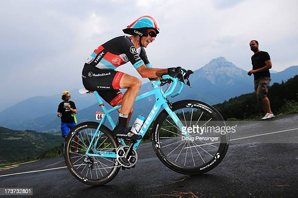 Andreas Kloden of Germany and Team Radioshack Leopard rides during stage seventeen of the 2013 Tour de France, a 32KM Individual Time Trial from...