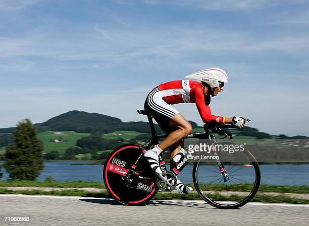 Andreas Kloden of Germany in action in the Elite Men's Time Trial during the 2006 UCI Road World Championships on September 21 2006 in Salzburg...