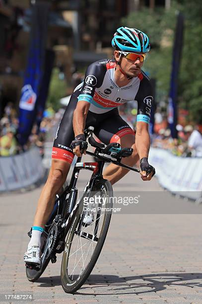 Andreas Kloden of Germany riding for RadioShack Leopard TREK competes in the individual time trial during stage five of the 2013 USA Pro Challenge on...