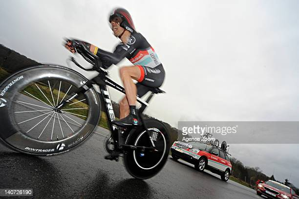 Andreas Kloden of Team RadioShack Nissan Trek during Stage 1 of the ParisNice Cycle Race on March 04 2012 Dampierre France