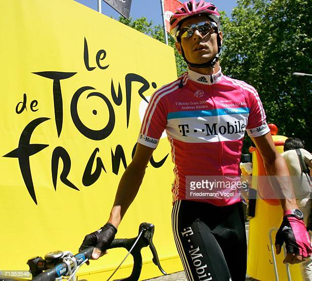 Andreas Kloeden of Germany and the T-Mobile Team before Stage 1 of the 93rd Tour de France between Strasbourg and Strasbourg on July 2, 2006 in...