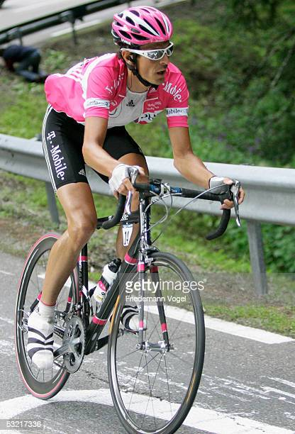 Andreas Kloeden of Germany and the T-Mobile team rides during Stage 8 of the 92nd Tour de France between Pforzheim, Germany, and Gerardmer, France,...