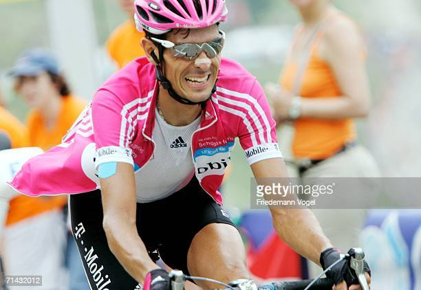 Andreas Kloeden of Germany and T-Mobile in action during Stage 11 of the 93rd Tour de France between Tarbes and Val d'Aran - Pla-de-Beret on July 13,...