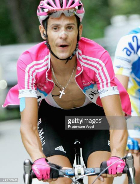 L'ALPE D'HUEZ FRANCE JULY 18 Andreas Kloeden of Germany and TMobile in action during Stage 15 of the 93rd Tour de France between Gap and L'Alpe...