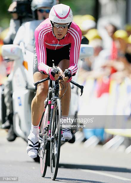 Andreas Kloeden of Germany and T-Mobile in action during the prologue of the 93st Tour de France on July 1, 2006 in Strasbourg, France.