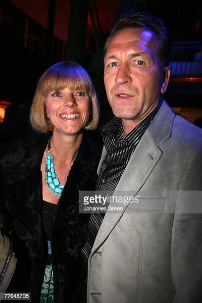 Andreas Koepcke , former goalkeeper of the German Soccer National team and his wife Birgit arrive at the BMG After Show Party of the MTV Europe Music...