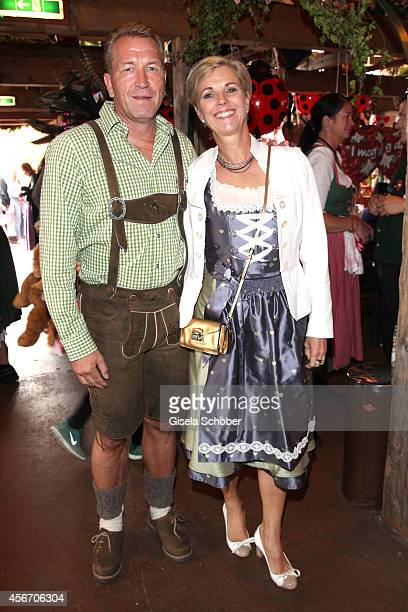 Andreas Koepke and his wife Birgit attend the FC Bayern Wies'n during Oktoberfest at Kaeferzetl/Theresienwiese on October 5 2014 in Munich Germany