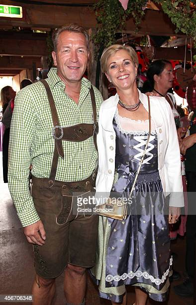 Andreas Koepke and his wife Birgit attend the FC Bayern Wies'n during Oktoberfest at Kaeferzetl/Theresienwiese on October 5, 2014 in Munich, Germany.