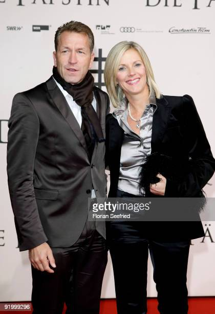 Andreas Koepke and wife Birgit attend the World premiere of 'Pope Joan' at the Sony Center CineStar on October 19 2009 in Berlin Germany