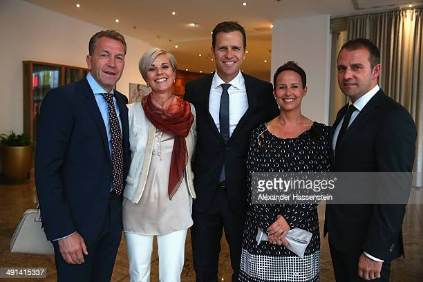 Andreas Koepke, assistent coach of the German National team, Birgit Koepke, Oliver Bierhoff, Manager of the German National team Silke Flick, Hansi...