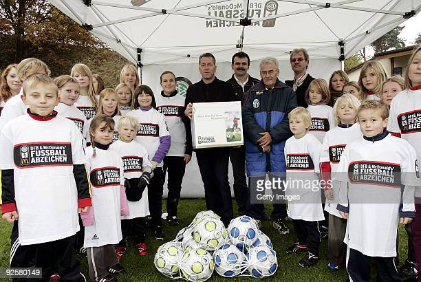 Andreas Koepke during the 2500th DFB Football Badge on October 31 2009 in Vorbach Germany