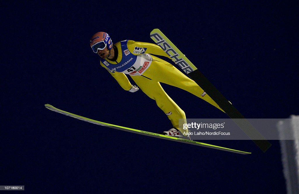 Andreas Kofler of Austria competes in the individual HS142 during the FIS Ski Jumping World Cup on November 28, 2010, in Kuusamo, Finland.