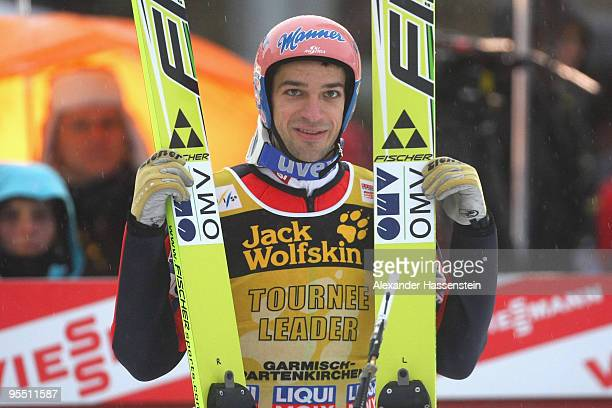 Andreas Kofler of Austria looks on after the qualification round of the FIS Ski Jumping World Cup event of the 58th Four Hills ski jumping tournament...