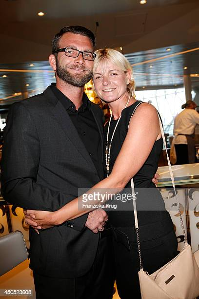 Andreas Koper and Anja Fichtel attend the christening of the ship 'Mein Schiff 3' on June 12 2014 in Hamburg Germany