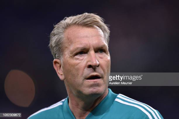 Andreas Kopke of Germany reacts during warmup before the UEFA Nations League A group one match between France and Germany at Stade de France on...