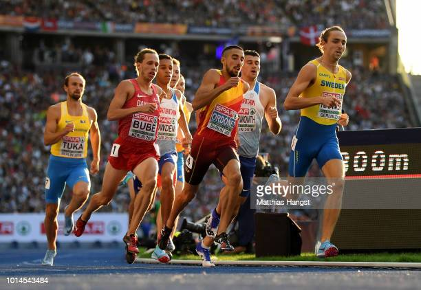 Andreas Kramer of Sweden Andreas Bube of Denmark Saul Ordonez of Spain Daniel Rowden of Great Britain Guy Learmonth of Great Britain and Amel Tuka of...