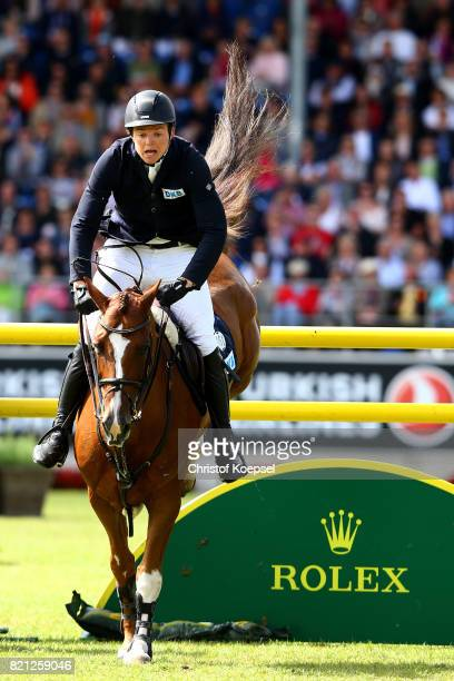 #Andreas Kreuzer of Germany rides on Calvilot during the Rolex Grand Prix of CHIO Aachen 2017 at Aachener Soers on July 23 2017 in Aachen Germany