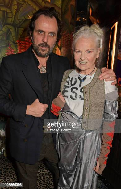Andreas Kronthaler and Dame Vivienne Westwood attend the 'Country Town House Great British Brands' party at Annabel's on January 27 2020 in London...