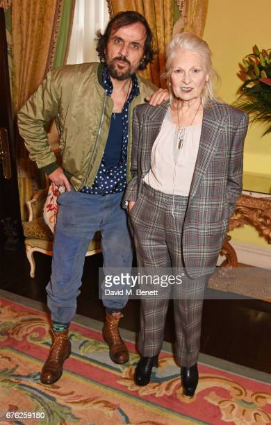Andreas Kronthaler and Dame Vivienne Westwood attend the Harper's Bazaar 150th Anniversary Party at William Kent House at The Ritz on May 2 2017 in...