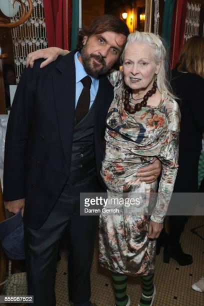 Andreas Kronthaler and Vivienne Westwood attend a dinner in Paris to celebrate Another Magazine A/W17 hosted by Vivienne Westwood, Andreas...