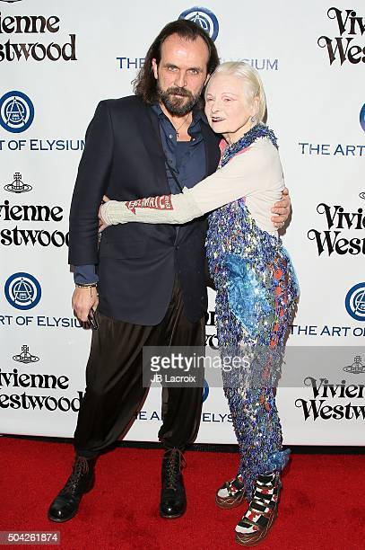 Andreas Kronthaler and Vivienne Westwood attend the Art of Elysium 2016 HEAVEN Gala presented by Vivienne Westwood Andreas Kronthaler at 3LABS on...