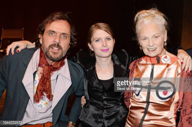 Andreas Kronthaler Chelsea Manning and Dame Vivienne Westwood attend attends the annual Friends Of The Institute of Contemporary Arts dinner in...