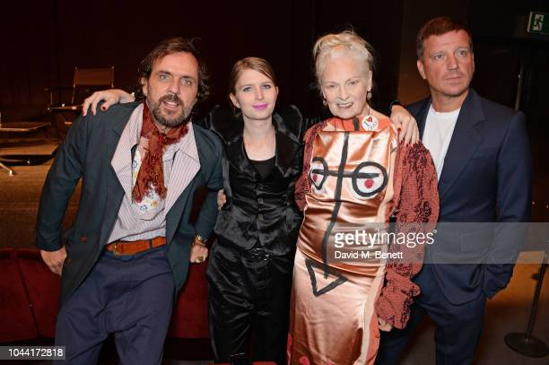 Andreas Kronthaler Chelsea Manning Dame Vivienne Westwood and Stefan Kalmar attend attends the annual Friends Of The Institute of Contemporary Arts...
