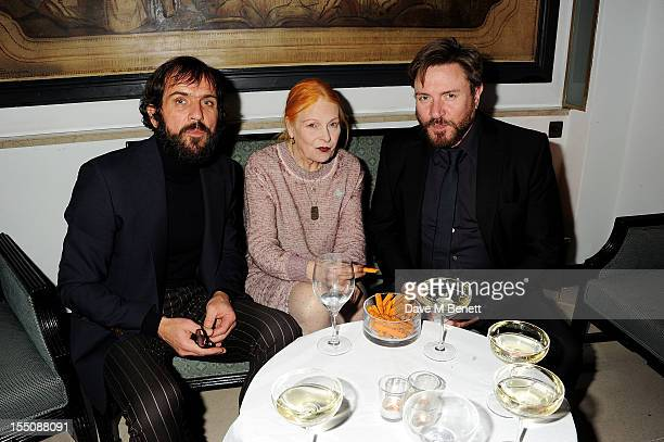 Andreas Kronthaler Dame Vivienne Westwood and Simon Le Bon attend the Harper's Bazaar Women of the Year Awards 2012 in association with Estee Lauder...