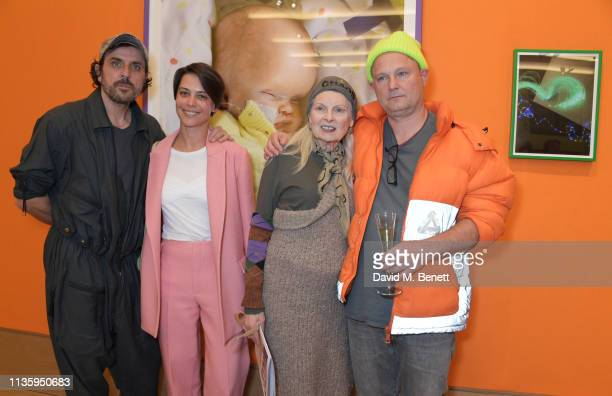 Andreas Kronthaler Dovile Drizyte Dame Vivienne Westwood and Juergen Teller attend a private view of Juergen Teller's new exhibition Demelza Kids at...
