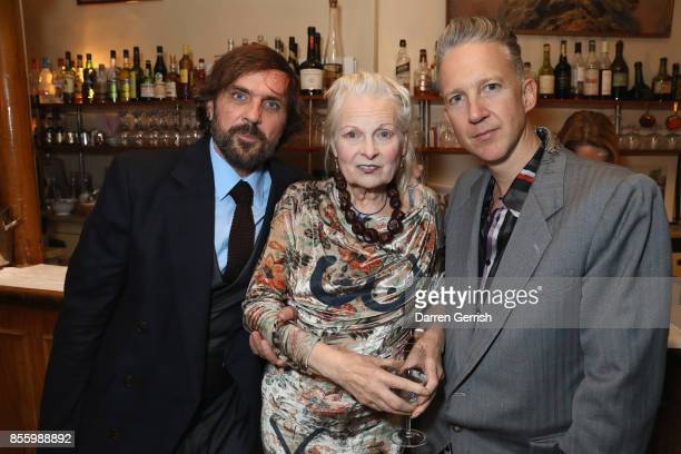 Andreas Kronthaler, Vivienne Westwood and Jefferson Hack attend a dinner in Paris to celebrate Another Magazine A/W17 hosted by Vivienne Westwood,...
