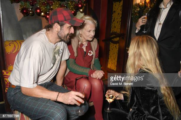 Andreas Kronthaler Vivienne Westwood and Laura Bailey attend the Nick Cave The Bad Seeds x The Vampires Wife x Matchesfashioncom party at Loulou's on...