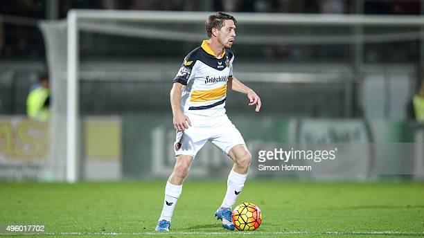 Andreas Lambertz of Dresden controls the ball during the 3 Liga match between SV Wehen Wiesbaden and Dynamo Dresden at BRITAArena on November 6 2015...