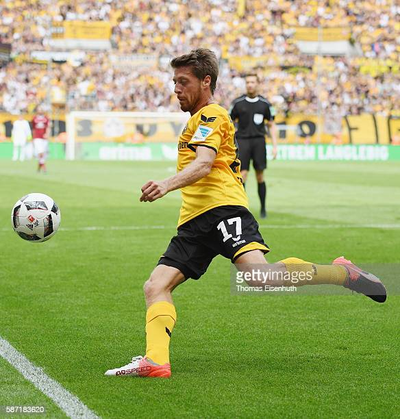 Andreas Lambertz of Dresden during the Second Bundesliga match between SG Dynamo Dresden and 1 FC Nuernberg at DDVStadion on August 6 2016 in Dresden...