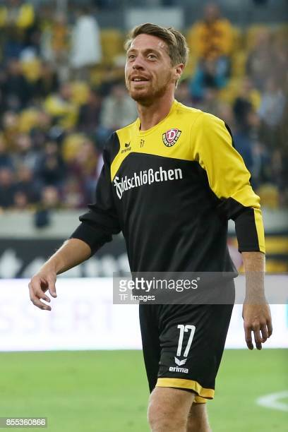 Andreas Lambertz of Dresden looks on during the Second Bundesliga match between Dynamo Dresden and SpVgg Greuther Fuerth at DDVStadion on September 8...