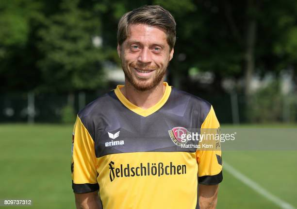 Andreas Lambertz of Dresden poses during the SG Dynamo Dresden team presentation on July 6 2017 in Dresden Germany