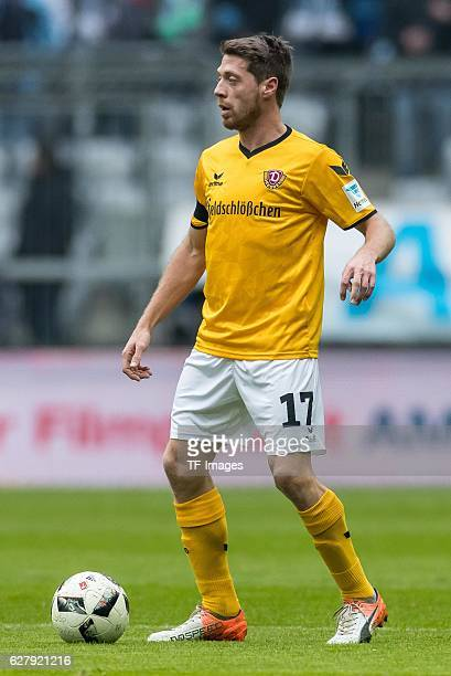 Andreas Lambertz of Dynamo Dresden in action during the Second Bandesliga match between TSV 1860 Muenchen and Dynamo Dresden at Allianz Arena on...