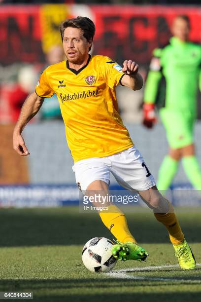 Andreas Lambertz of Dynamo Dresden in action during the Second Bundesliga match between 1 FC Nuernberg and SG Dynamo Dresden at Arena Nuernberg on...