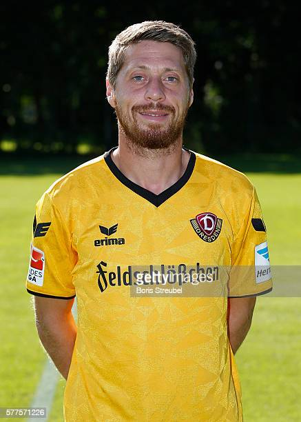 Andreas Lambertz of Dynamo Dresden poses during the Dynamo Dresden Team Presentation on July 19 2016 in Dresden Germany