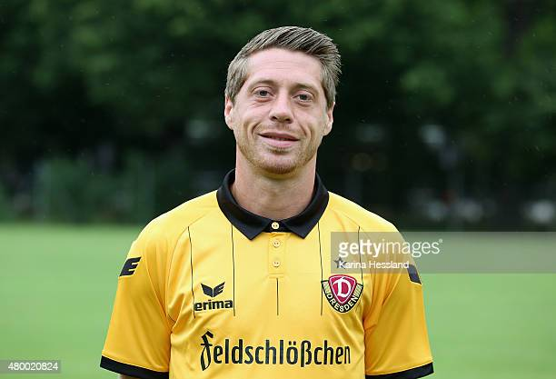 Andreas Lambertz poses during the official team presentation of Dynamo Dresden at the GluecksgasStadion on July 9 2015 in Dresden Germany on July 9...