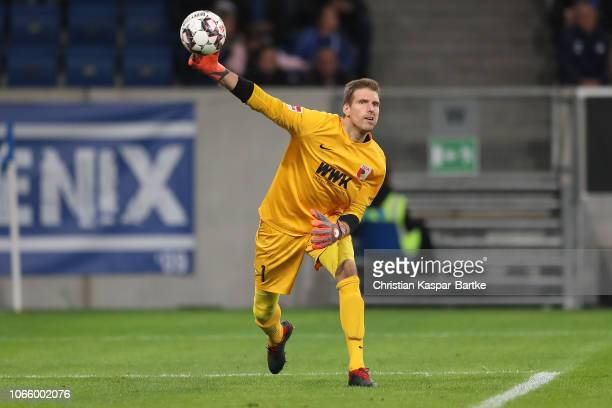 Andreas Luthe of FC Augsburg in action during the Bundesliga match between TSG 1899 Hoffenheim and FC Augsburg at Wirsol RheinNeckarArena on November...