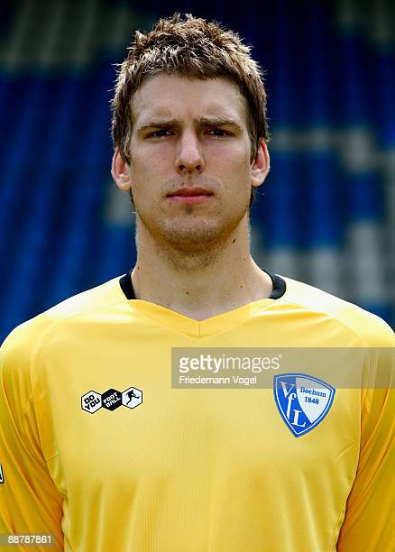 Andreas Luthe poses during the VfL Bochum team presentation at the rewirpower stadium on June 29 2009 in Bochum Germany