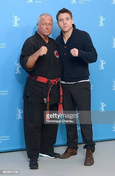 Andreas Marquardt and actor Hanno Koffler attend the 'Tough Love' photocall during the 65th Berlinale International Film Festival at Grand Hyatt...