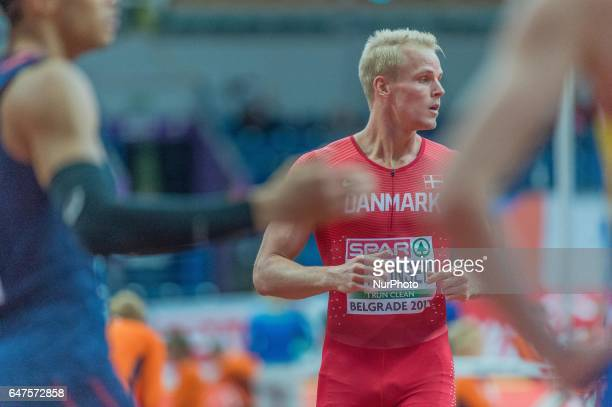 Andreas MartinsenDenmark during 60m Hurdles after setting a new Danish record at European athletics indoor championships in Belgrade on March 3 2017