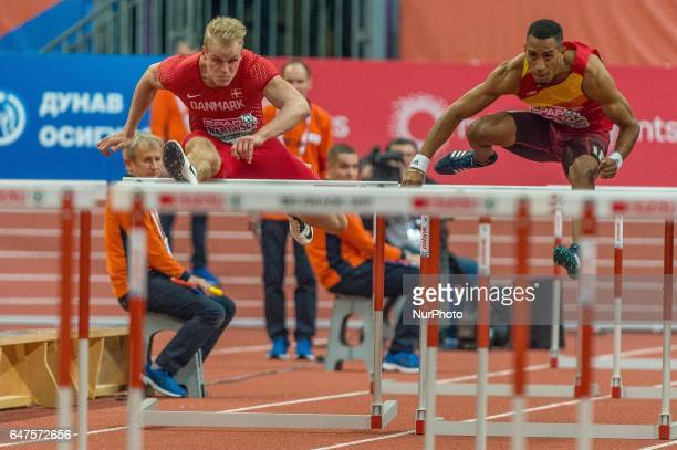 Andreas MartinsenDenmark during 60m hurdles final for men at European athletics indoor championships in Belgrade on March 3 2017