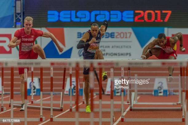 Andreas MartinsenDenmark during 60m Hurdles for men at European athletics indoor championships in Belgrade on March 3 2017