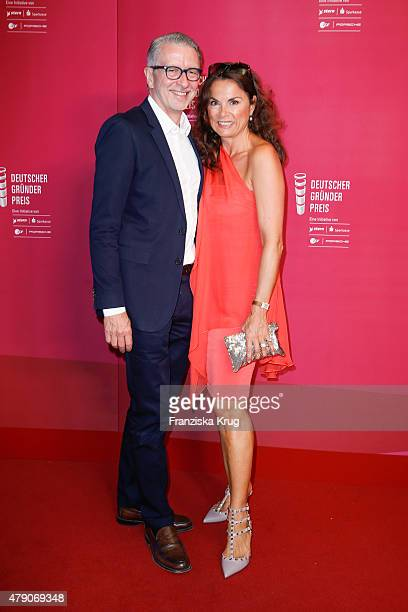 Andreas Marx and Anna von Griesheim attend the Deutscher Gruenderpreis 2015 on June 23 2015 in Wetzlar Germany