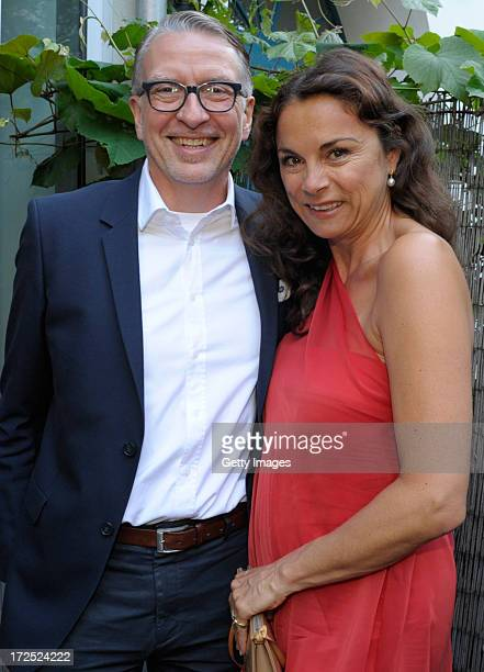 Andreas Marx and Anna von Griesheim attend the Samsung Designer Soiree at Epicentro art gallery during the MercedesBenz Fashionweek spring and summer...